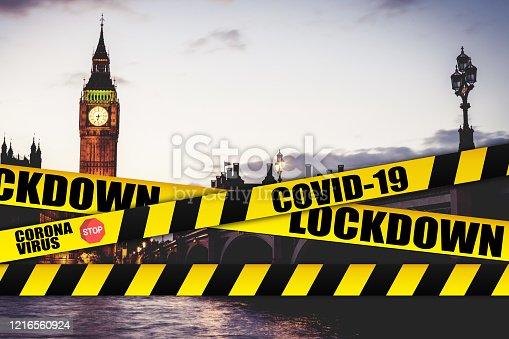 London - Cities shut down for Coronavirus COVID-19 pandemic outbreak