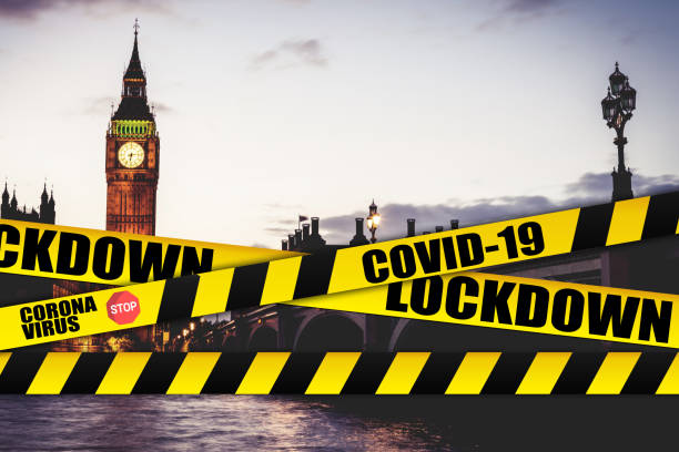 London - Cities shut down for Coronavirus COVID-19 pandemic outbreak stock photo