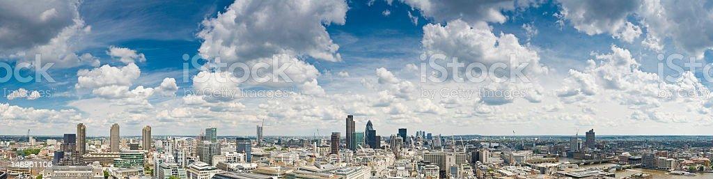 London City aerial panorama royalty-free stock photo