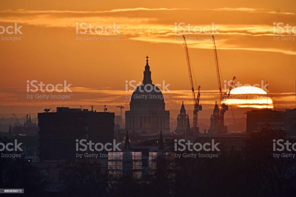 London City dawn stock photo