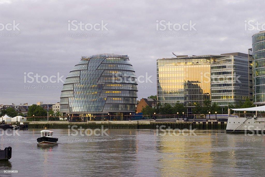 London City Hall at Sunrise royalty-free stock photo