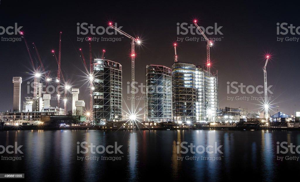 London Stadt der cranes – Foto