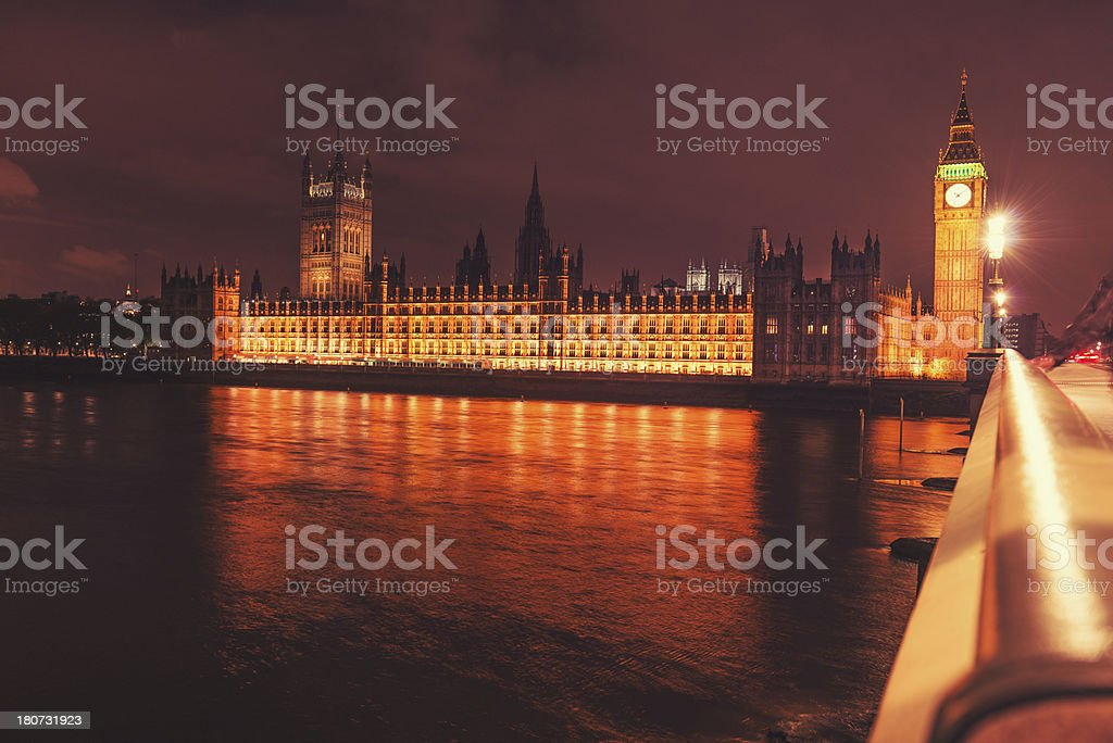 London - city of westminster and river thames royalty-free stock photo
