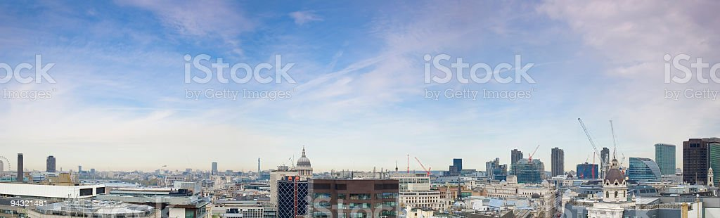 London City panorama stock photo