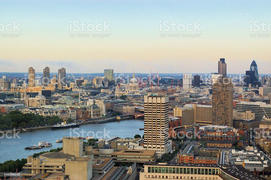 London city panoramic evening view royalty-free stock photo