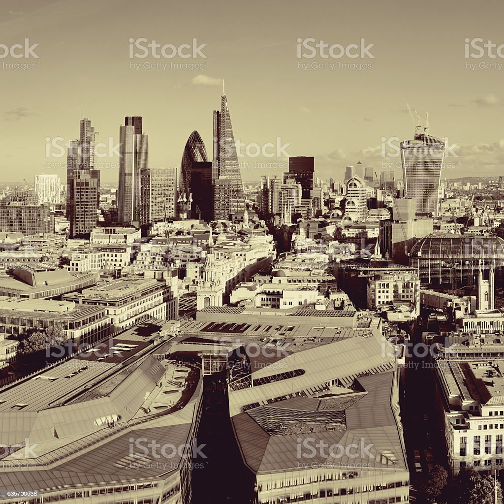 London city rooftop royalty-free stock photo