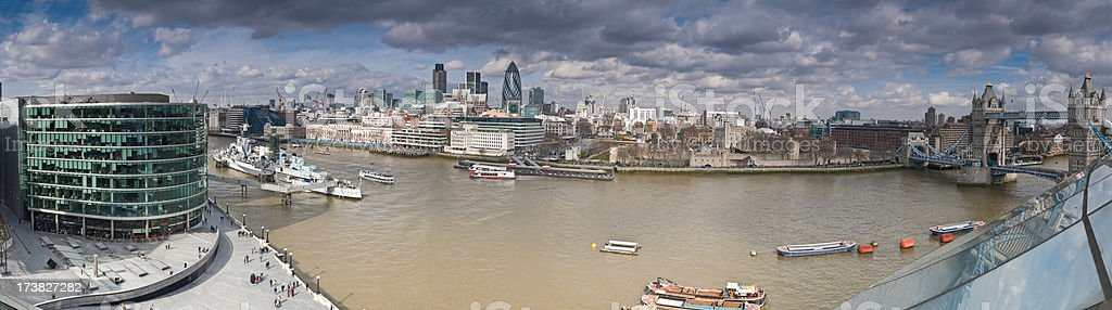 London city sights river heights royalty-free stock photo