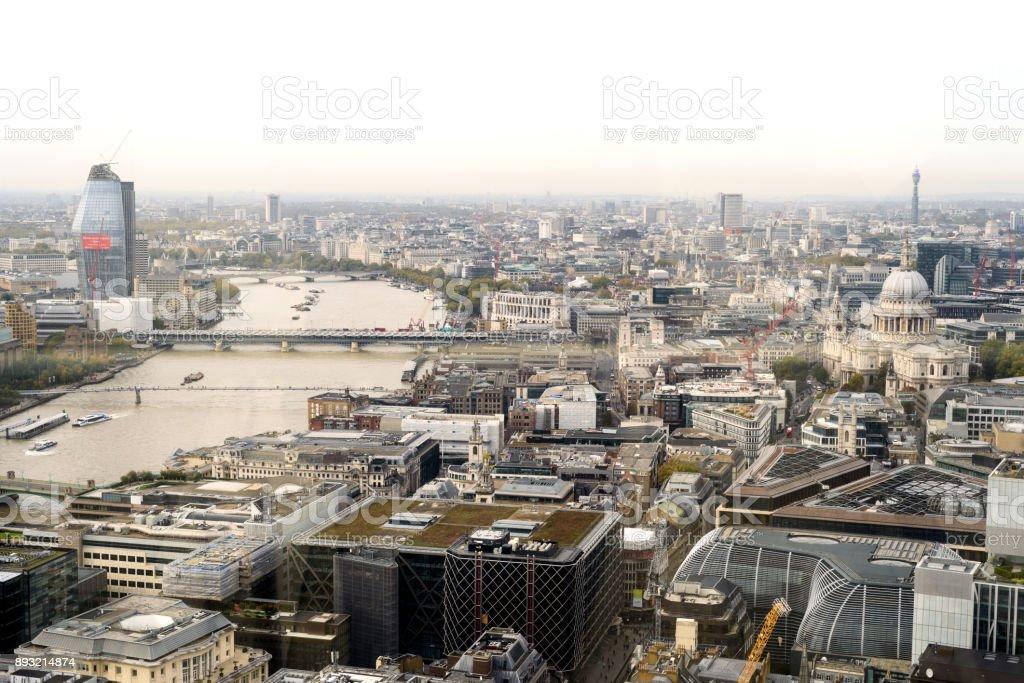 London City Skyline Daytime stock photo