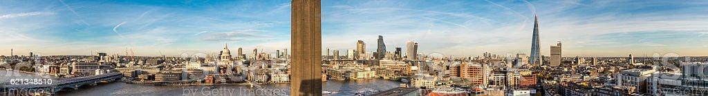 London city skyline panorama stock photo