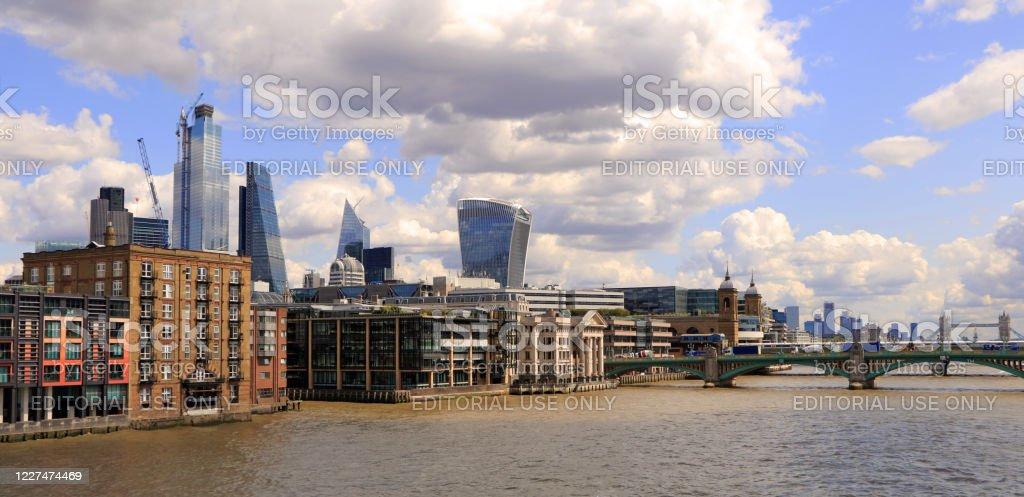London City Skyline London City Skyline at River Thames. Architecture Stock Photo