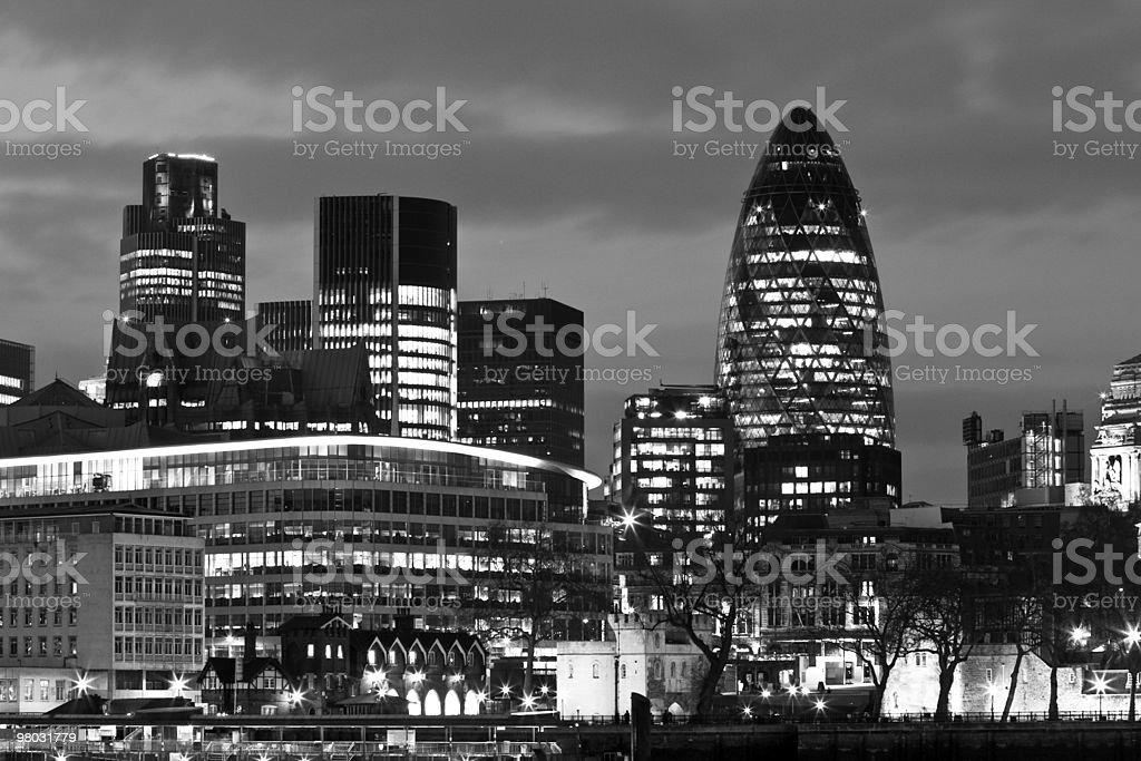 런던 시내 스카이라인 royalty-free 스톡 사진