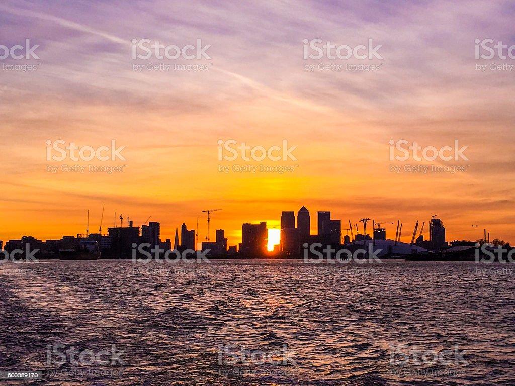 London City Sunset stock photo