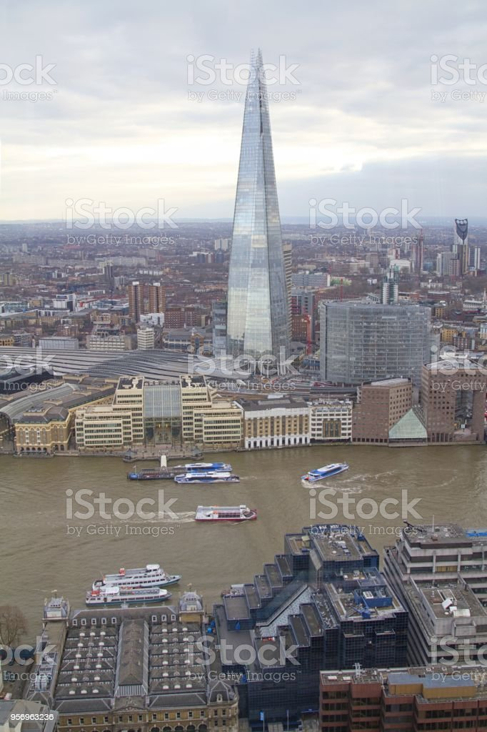 London city Uk, view of Southwark area including the Shard building stock photo