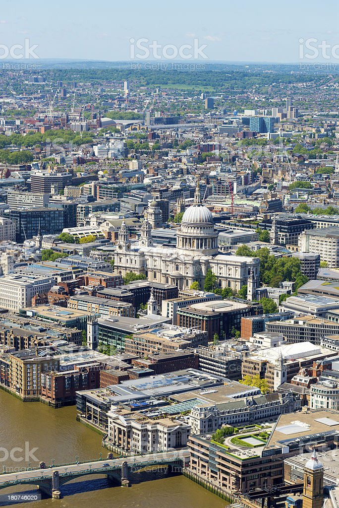 London Cityscape Aerial View, England royalty-free stock photo