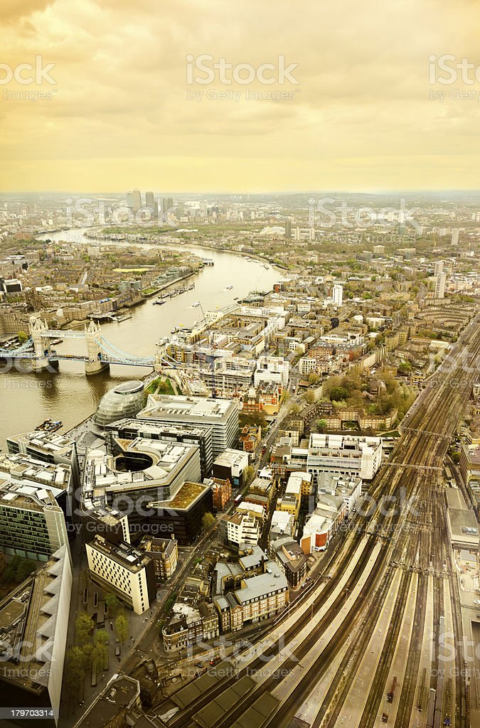 London Cityscape. Aerial View royalty-free stock photo