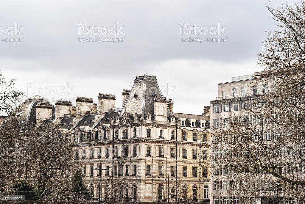 London cityscape near hyde park corner royalty-free stock photo
