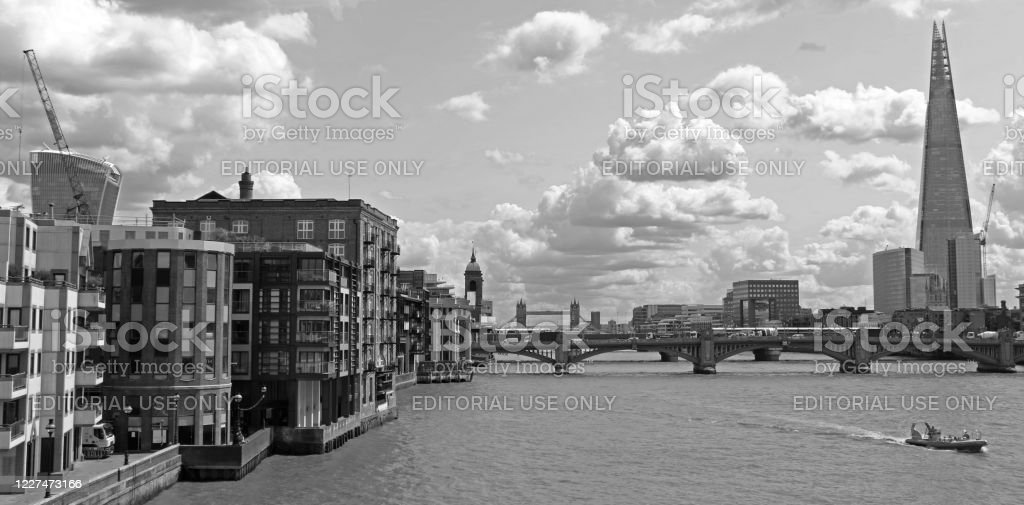 London cityscape London cityscape with The Shard in the back, London, United Kingdom. Architecture Stock Photo
