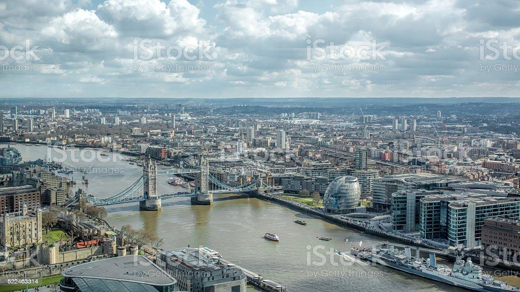 London Cityscape Skyline View. Famous Landmarks stock photo