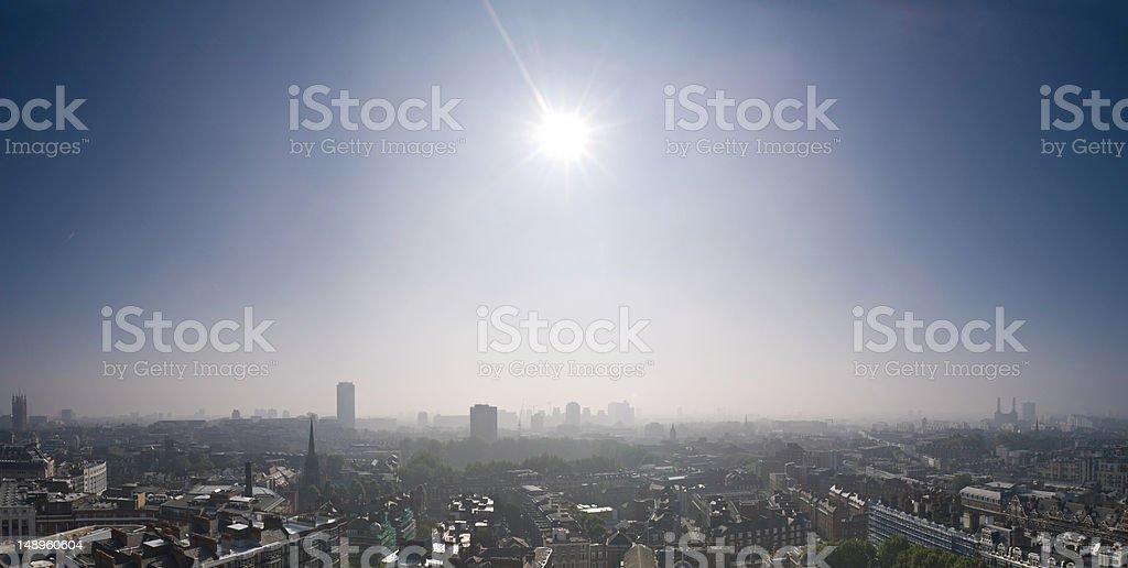 London cityscape sunburst stock photo