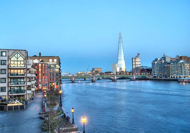 Paesaggio urbano di Londra con the Shard - foto stock
