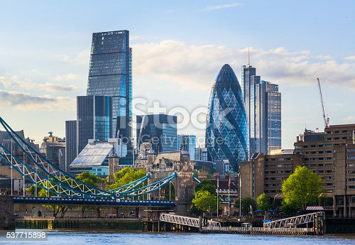 Stunning London cityscape with Tower Bridge during the daytime