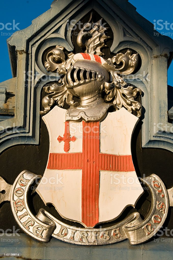 London Coat of Arms stock photo