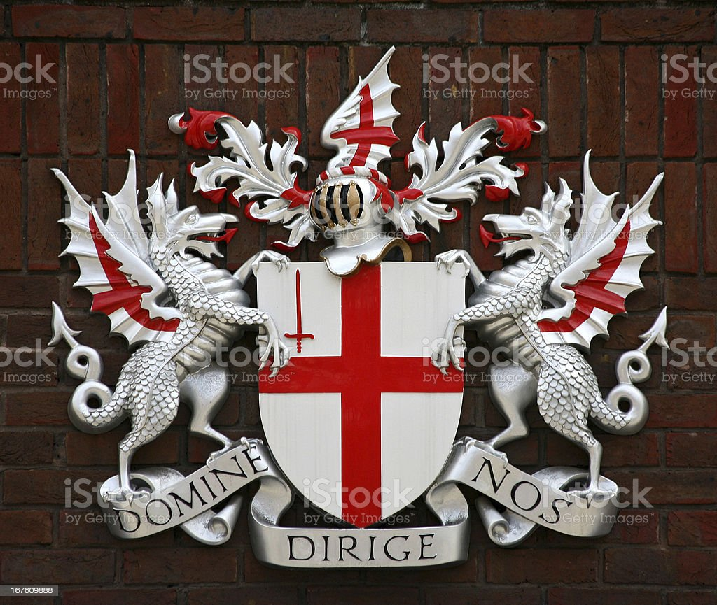 London Coat of Arms royalty-free stock photo