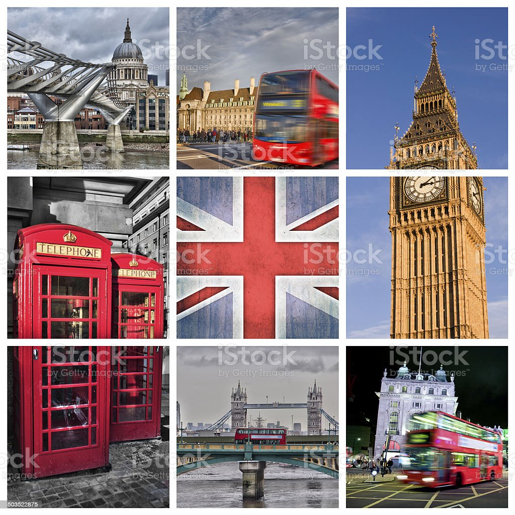 London collage stock photo