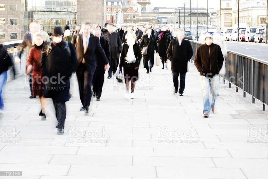 London commute royalty-free stock photo