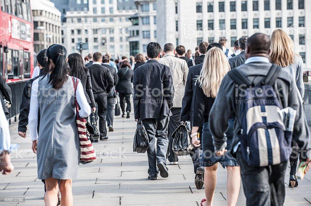 London Commuters stock photo