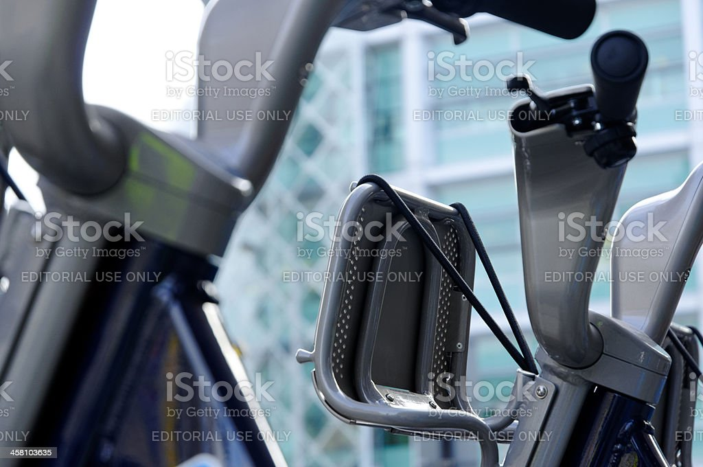 London cycle hire basket stock photo