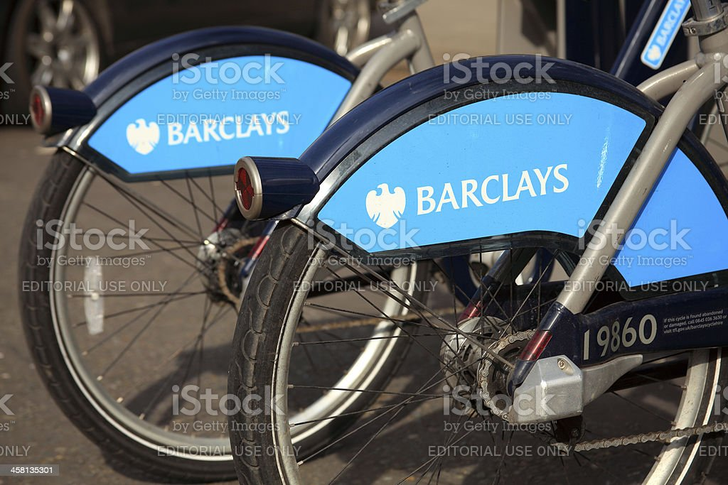London Cycle Hire Bikes stock photo
