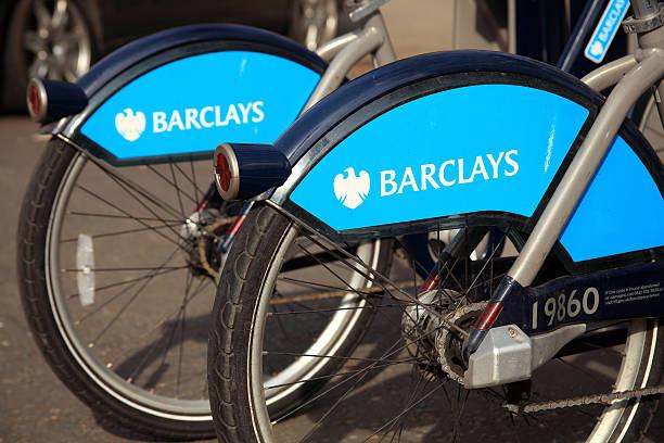 London Cycle Hire Bikes stock photo