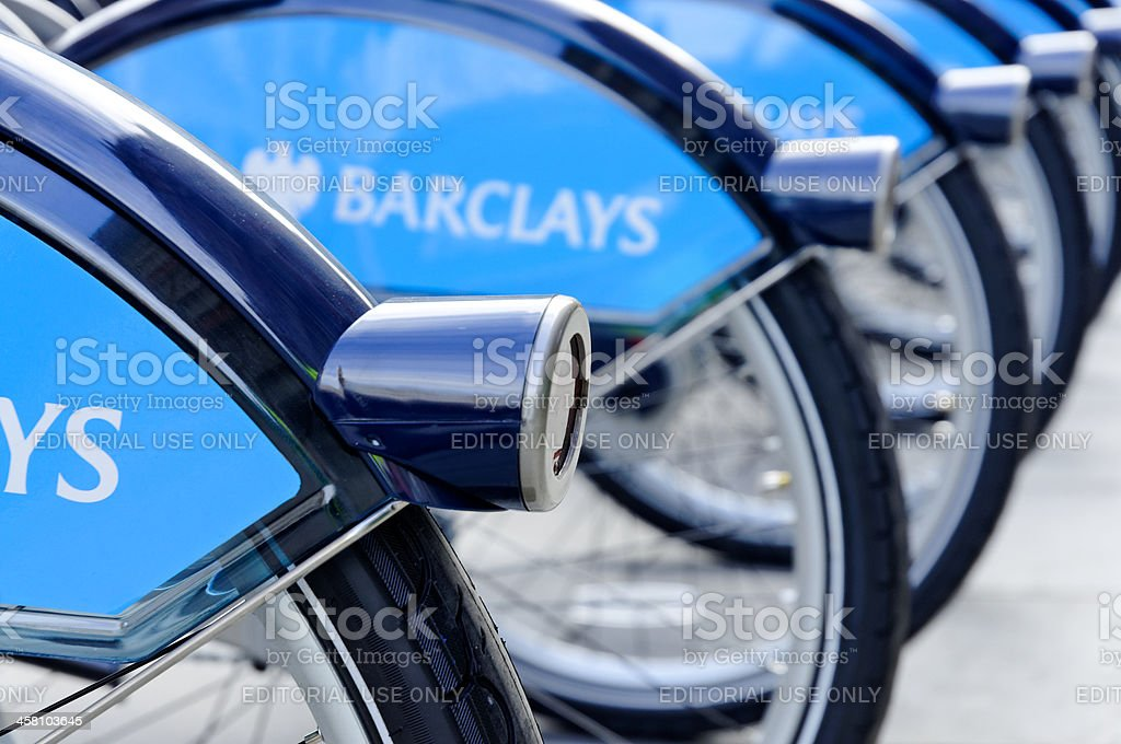 London cycle hire lights stock photo