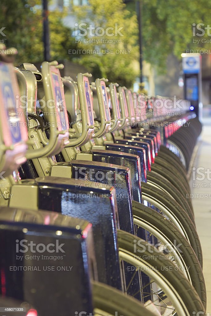 London Cycle Hire Station royalty-free stock photo