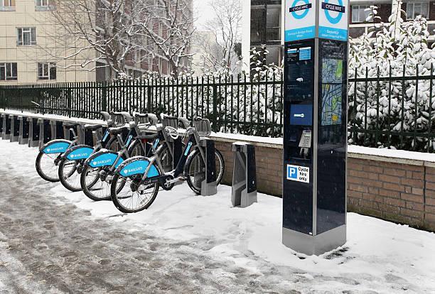 London cycling stock photo