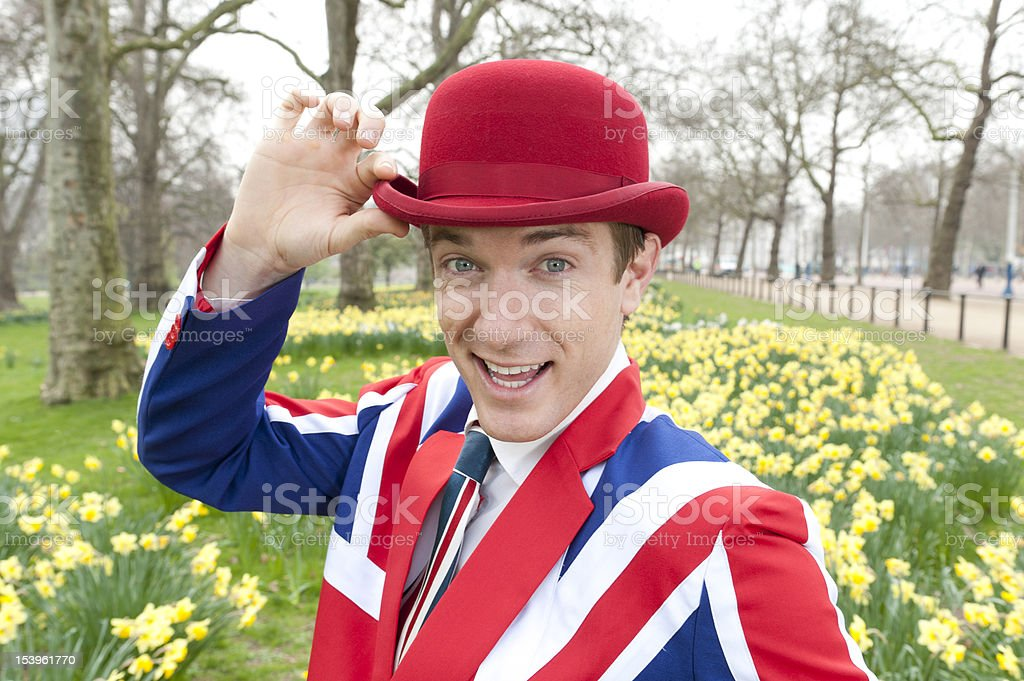 London Dandy in Spring royalty-free stock photo