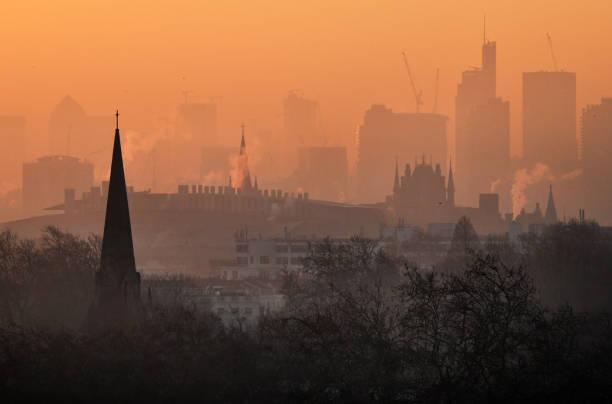 London dawn stock photo