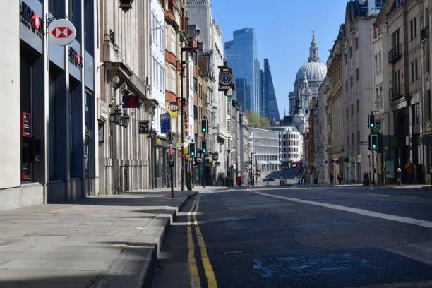 London deserted stock photo