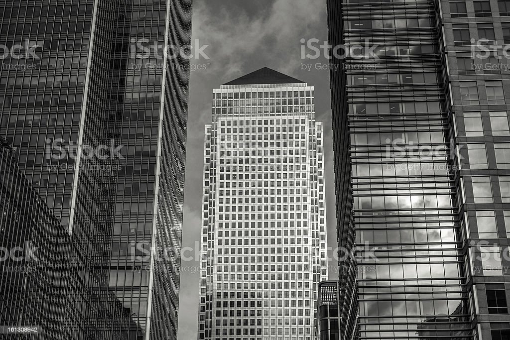 London Docklands Canary Wharf royalty-free stock photo
