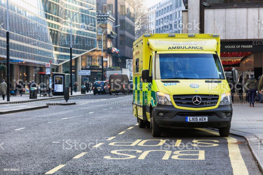 London Emergency Ambulance stock photo