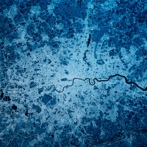 London England 3D Render Blue Top Ansicht Feb 2019 – Foto