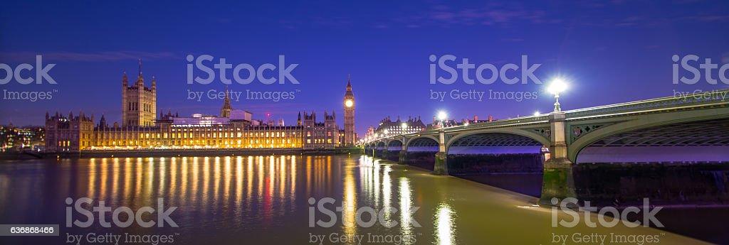 London England at night stock photo