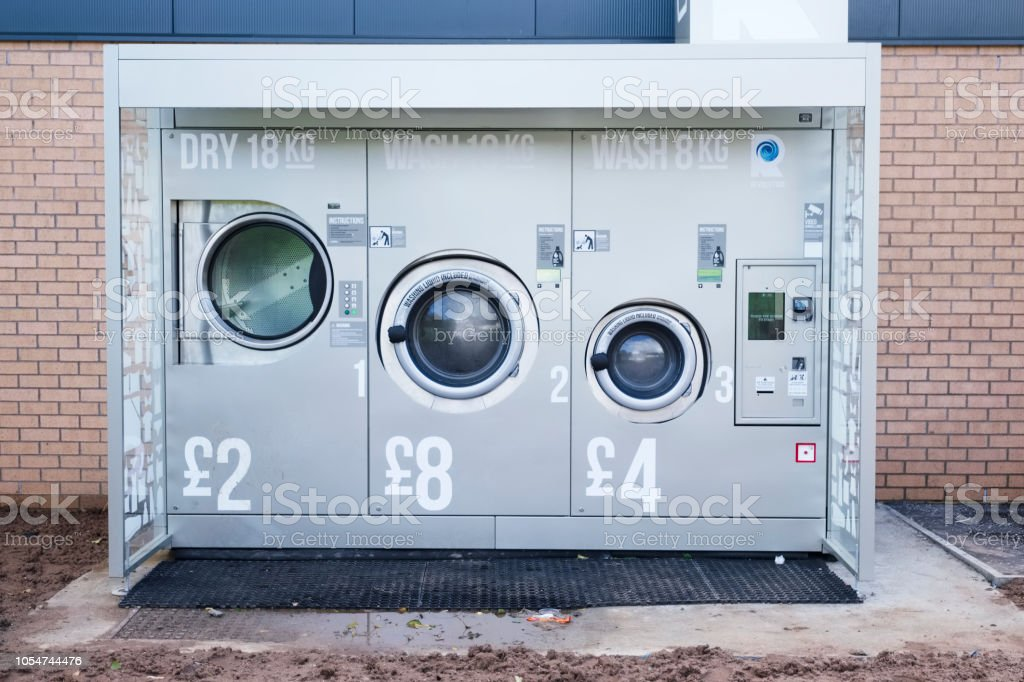 London England Uk October 14th 2018 Coin Operated Washing