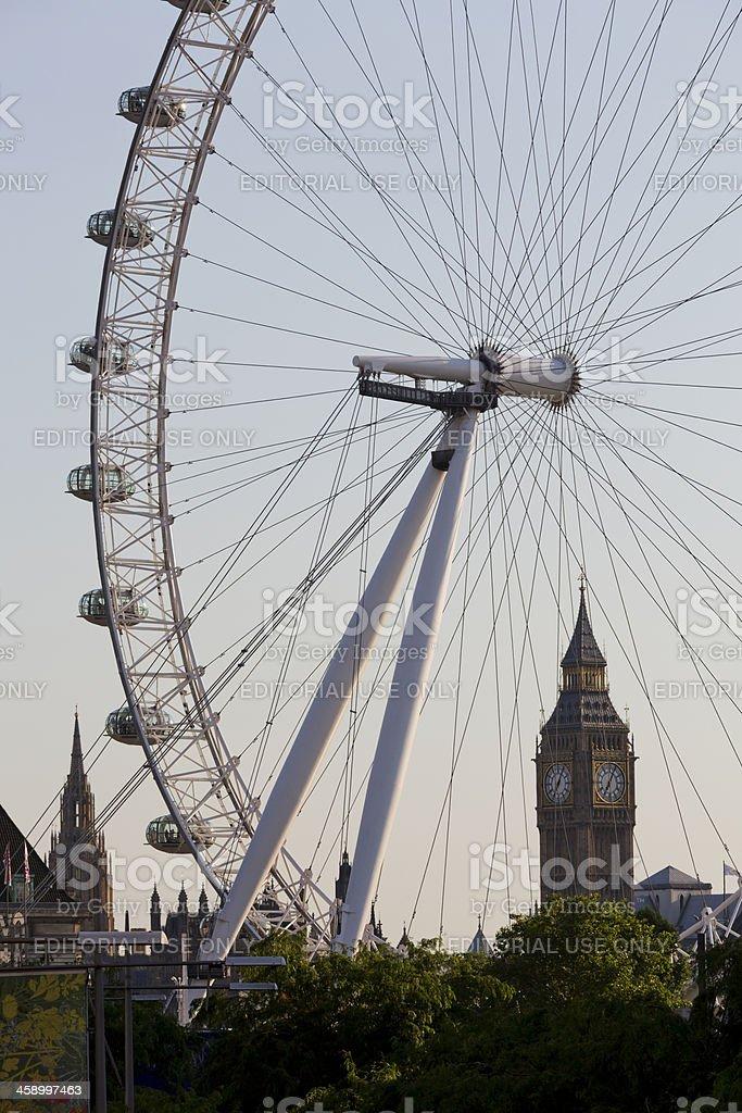 London Eye and Big Ben royalty-free stock photo
