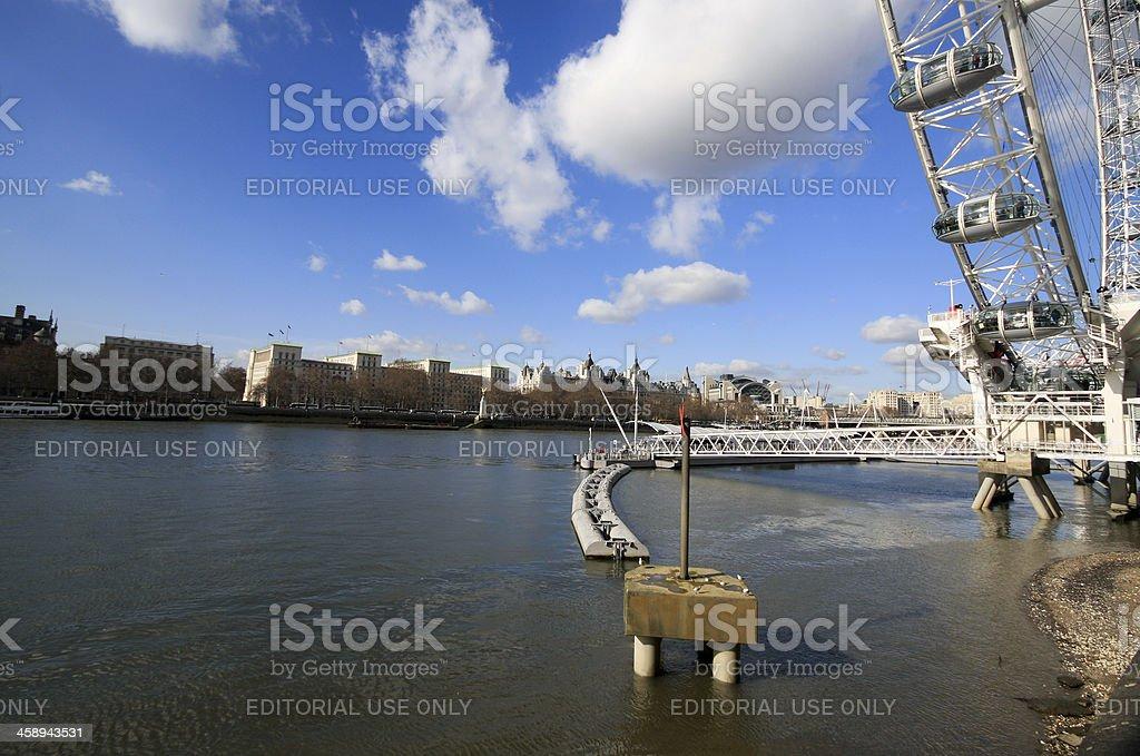 London Eye in England, UK royalty-free stock photo