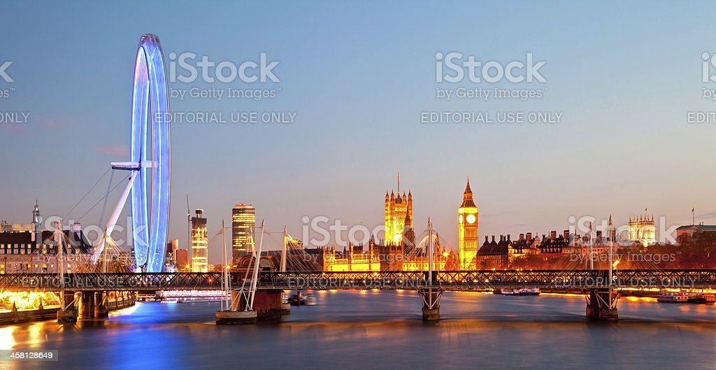 London Eye Panorama royalty-free stock photo
