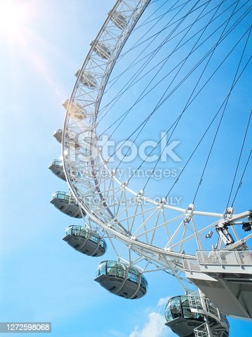 London, Britain – April 21, 2013: Detail of London eye in England.