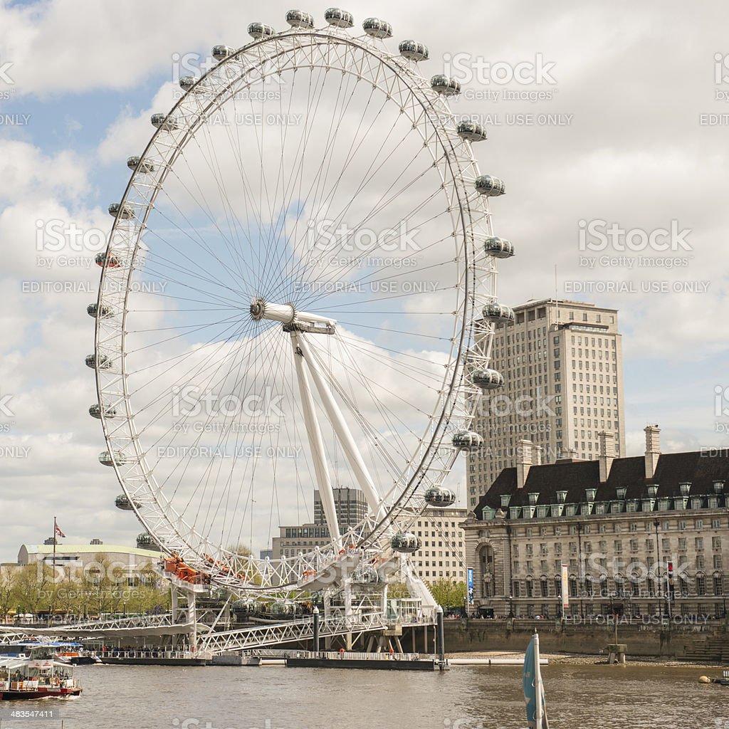 London Eye royalty-free stock photo