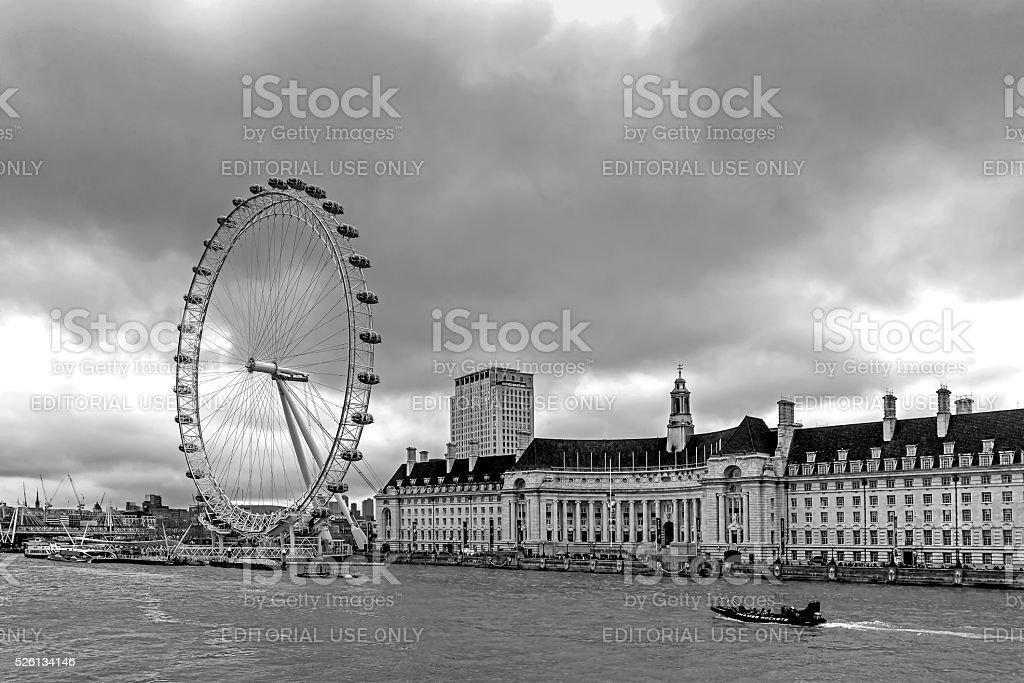 London Eye stock photo